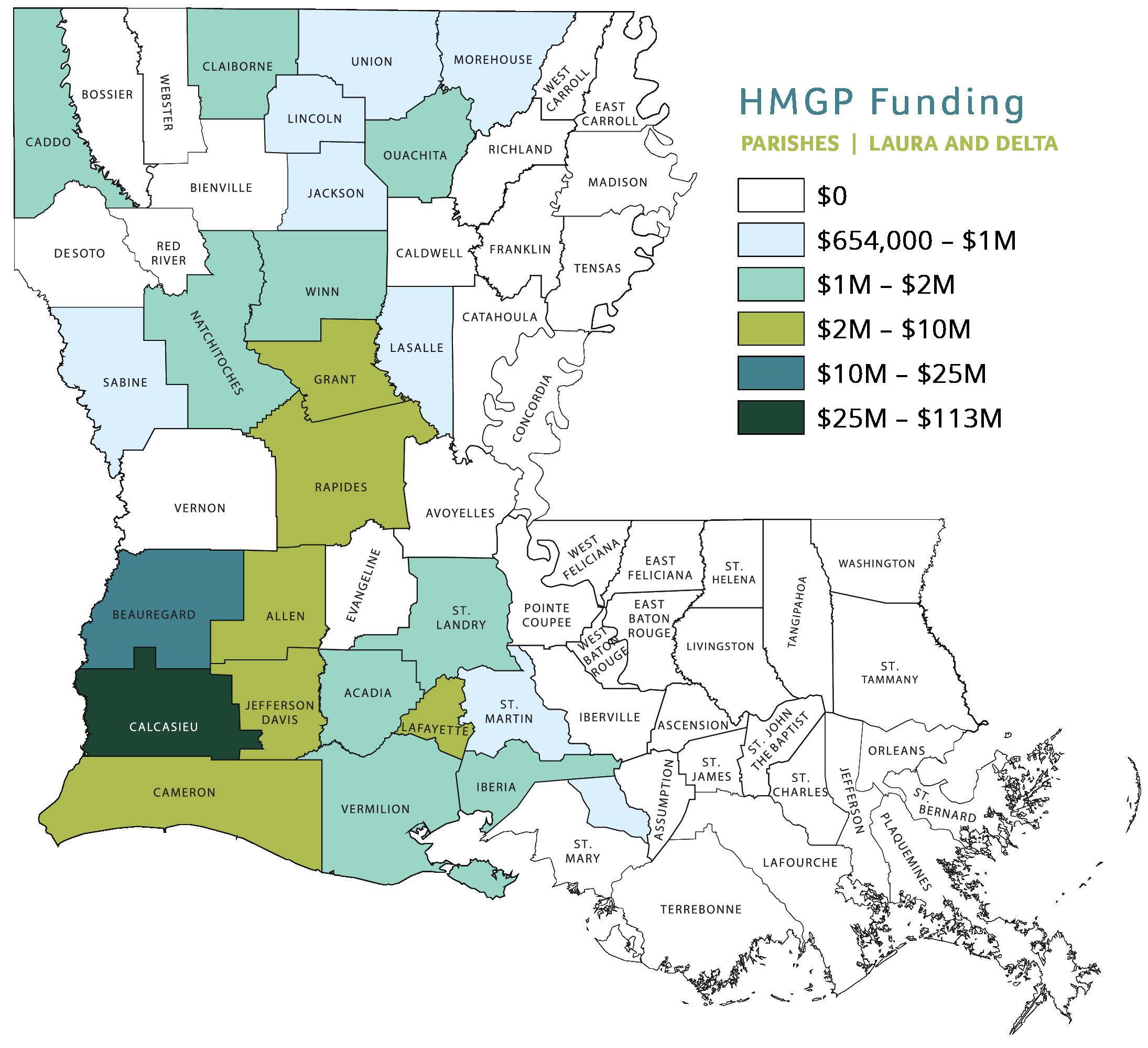 2020 Floods HMGP Funding Map